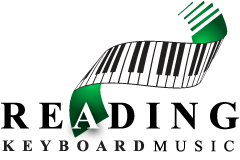 Reading Keyboard Music Logo